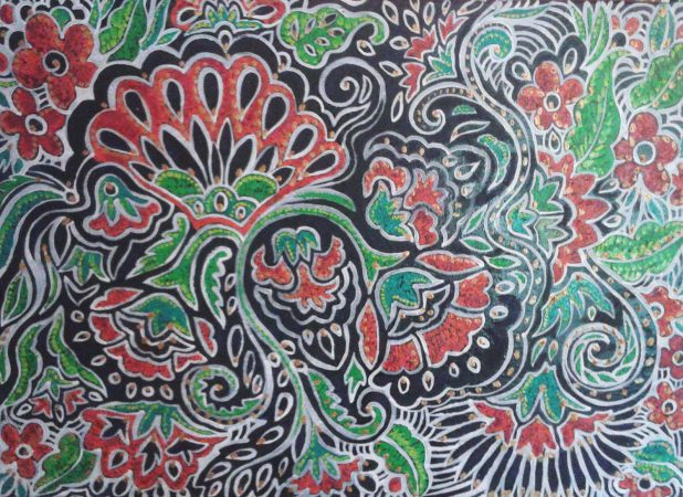Traditional Pattern, 2010, 70x100 cm, oil on canvas.