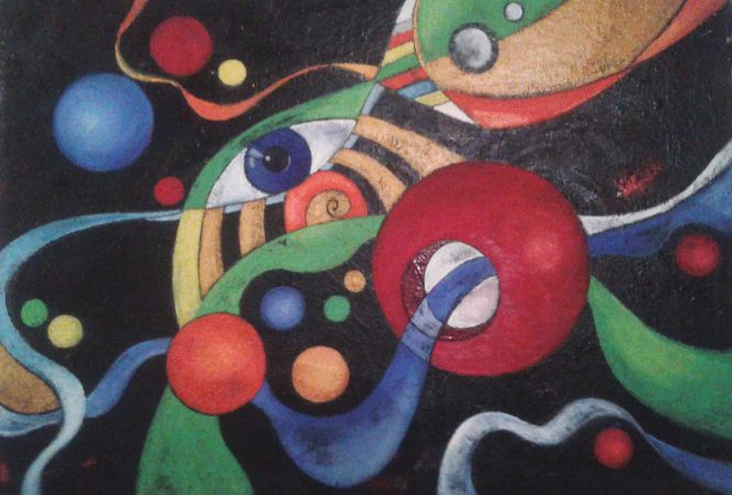 Abstract, 2009, oil on canvas, 50x70 cm