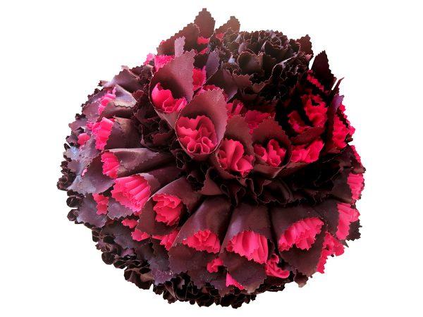 Sculpted-Rose-Purple-1-2020-31x31x24H-cm-cloth-glue-on-styrofoam