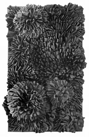 Textures-of-desire-2020-66x105-cm-cloth-glue-styrofoam-on-wood